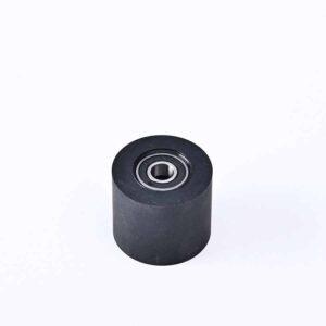 Rubber roller wheel of tensioner
